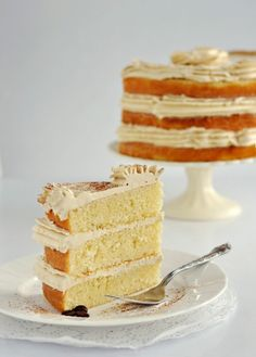 Vanilla Bean Latte Cake by Sweetapolita