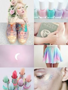 Bilderesultat for pastel aesthetic board Luna Lovegood Aesthetic, Aesthetic Collage, Witch Aesthetic, Creepy Cute, Magical Girl, Girly, My Favorite Things, Pretty, Character Ideas