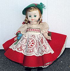 Madame Alexander Bend-Knee Walker Swiss Maggie Face Doll, 1966 - Look at this choice vintage doll that was just listed at my Collector Online/Tias site, http://www.donnaskorner.com. It is great to find such a wonderful vintage doll. She does not have a box, but she does have a small hang tag and complete vintage outfit.