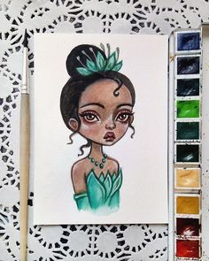 «Princess Tiana This postcard is available in my Etsy. Link in profile Sold out. Thank you so…»