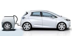 Renault Zoe electric car with attached EP Tender range-extender trailer