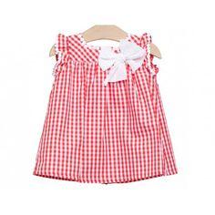 www.pepaonline.com     Cuadros ideales! Vestido de cuadros rojos de Fina Ejerique en Vestidos para Bebé. Moda infantil clásica de las mejores marcas para ti