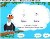 Matching Fractions To Decimals