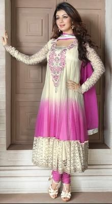 Trendy Shaded #Anarkali Adorn By #Ayesha #Takia