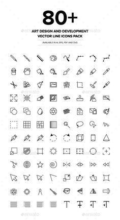 Art Design and Development Vector Icons - Icons - Micro Tatuajes Simple Doodles, Cute Doodles, Mini Drawings, Easy Drawings, Doodle Tattoo, Doodle Art, Bullet Journal Ideas Pages, Bullet Journal Inspiration, Free Vector Art