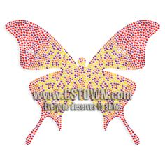 Colorful Iron on Crystal Butterfly Strass Transfer