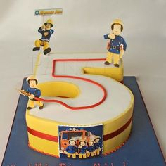 Fireman Sam cake in Number 4 idea?