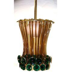 Ettore Sottsass Venini Formossa Glass Chandelier