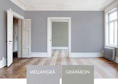 Väggfärg 321 - Mellangrå - Gråpäron - Inspiration: Auro ekologisk färg och ytbehandling