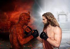 god satan devil vs jesus | The winner takes it all...Devil vs Jesus by RinatArt on deviantART