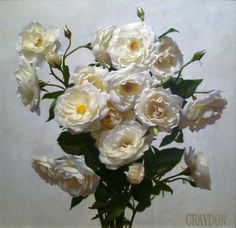 White roses - Graydon Parrish