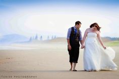 bride and groom walking on the beach. Sarah and Brendon  Noosa Wedding Photography shoot Peregian Beach www.taniasphotography.com