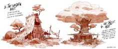 "Meatpie/ Axe man's Hut /2014/Nickelodeon animation (part1) Some environments research for the Nickelodeon short ""Meatpie vs the dark ages"" (created and directed by Gabe Swarr). Part 2 Here !"