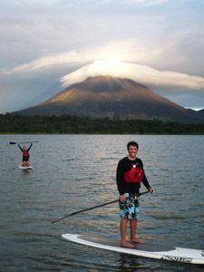 Paddle boarding in Costa Rica - Arenal Volcano