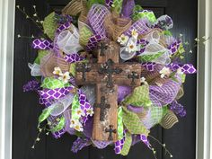 Easter Deco Mesh Wreath Easter Mesh wreath by ShellysChicDesigns
