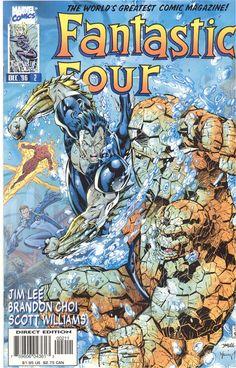 Fantastic Four(Vol#2) #2 by Jim Lee