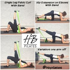 A few hamstring and glut exercises that can be done at how with a resistance band!
