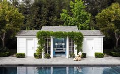 Pool House and pool-By JAM  love the simplicity and the lagoon blue pool