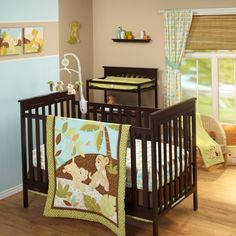 Features:  -Number of Pieces: 3.  -Pieces Included: Comforter, fitted crib sheet and dust ruffle.  -Lion King collection.  -Material: 100% Polyester microfiber.  -Machine wash separately in cold water