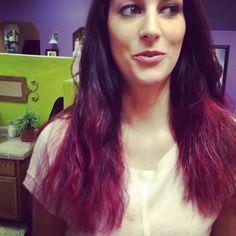 Purple to red by Alysha @shearlockcombs