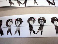 S dětmi ve školce si vyprávíme o podzimu, o počasí na podzim, o padání listů, sklízení ovoce a také o ptácích, kteří odlétají na jih. A ta... Easy Easter Crafts, Spring Crafts For Kids, Autumn Crafts, Summer Crafts, Diy For Kids, Easy Crafts, Arts And Crafts, Spring Birds, Wallpaper Stickers