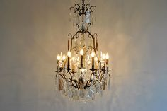 Amazing antique French crystal chandelier
