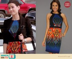 Raquel's orange and blue ombre printed dress on Chasing Life.  Outfit Details: http://wornontv.net/33957/ #ChasingLife