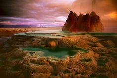 Инопланетный пейзажи на Земле. Гейзеры, штат Невада.