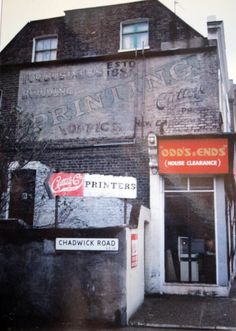 Peckham, Bellenden Road, Cutts Printers Photo: Jake Tilson, 1990