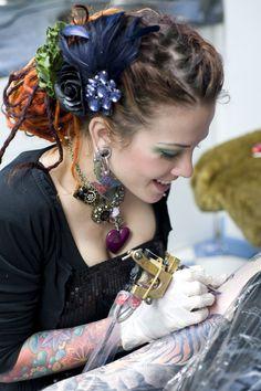 Amanda West, Tattoo artist at http://www.alzonetattoos.com