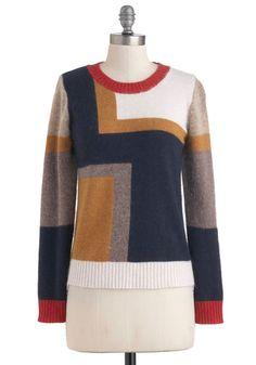 De Stijl My Heart Sweater, #ModCloth