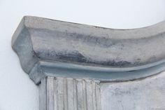 Annie Sloan painted headboard Swedish Gustavian detail