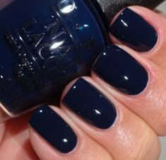 OPI San Francisco Collection – Incognito in Sausalito Inky blue black, perfect for fall!