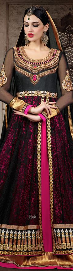 .❋*✿.Anarkali Churidar.✿*❋.Laya Anarkali Churidar, Salwar Kameez, Anarkali Suits, Pakistani Bridal, Indian Bridal, India Fashion, Asian Fashion, Indian Dresses, Indian Outfits