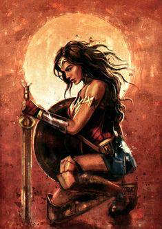 Wonder Woman by VarshaVijayan on - Top 500 Best Tattoo Ideas And Designs For Men and Women Wonder Woman Quotes, Wonder Woman Pictures, Wonder Woman Art, Wonder Woman Comic, Gal Gadot Wonder Woman, Wonder Woman Drawing, Wonder Woman Tattoos, Wonder Woman Logo, Dc Comics Art
