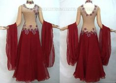 Another body suit with a full georgette skirt Red chiffon so gorgeous