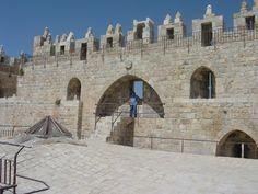Above the Damascus Gate Old Jerusalem Rampart walk