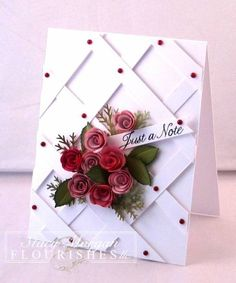Just a Note by Twinshappy - Cards and Paper Crafts at Splitcoaststampers - Idea only!.