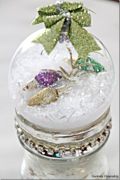 DIY Glass Christmas Ornament. Trying these!