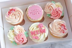 Happy Mother s Day - Derin Mother sDay Mothers Day Desserts, Mothers Day Cupcakes, Fondant Flower Cupcakes, Cupcake Cakes, Cupcakes Lindos, Mothers Day Cakes Designs, Mother's Day Cookies, Holiday Cupcakes, Baking Business