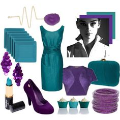 teal and purple