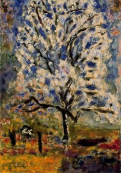 Pierre Bonnard ,the blossoming -almond tree