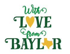 """With Love From Baylor"" cards to send to your friends and family! Would definitely give them a sweet reminder of their time in Waco."