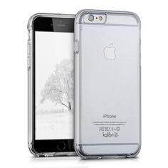 Amazon.com: Kalibri crystal case for Apple iPhone 6 / 6S transparent plastic protective case with TPU-Silicone edges in Transparent: Computers & Accessories
