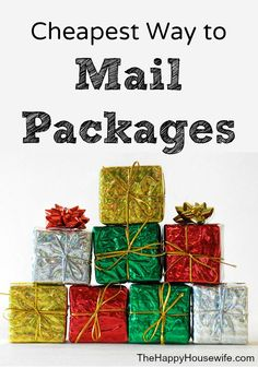 Find out the Cheapest Way to Mail Packages this holiday season!   The Happy Housewife