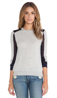 SHAE Blocked Pullover in Heather Grey Combo | REVOLVE
