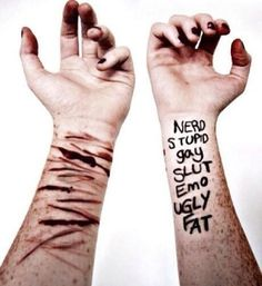 This is how words tear a person apart #deppresion #selfharm #cutting