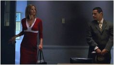 """A Narciso Rodriguez red & white dress for """"Just Brenda"""" (""""The Closer"""", 1x02)"""