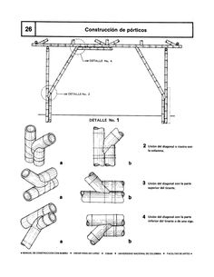 Bamboo construction manual - oscar hidalgo Whilst early within strategy, the actual pergola may be Bamboo House Design, House Front Design, Bamboo Building, Natural Building, Paper Furniture, Bamboo Furniture, Bamboo Architecture, Sustainable Architecture, Small Loft Apartments