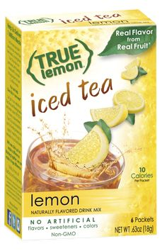 True Lemon® Iced Tea drink mix is made with simple ingredients and naturally sweetened with Stevia, making it a delicious way to fight dehydration. Read more now! Raspberry Iced Tea, Peach Ice Tea, Peach Lemonade, Raspberry Lemonade, Strawberry Kiwi, Low Calorie Vegan, Low Calorie Drinks, Iced Tea Mix, Salt Free Seasoning